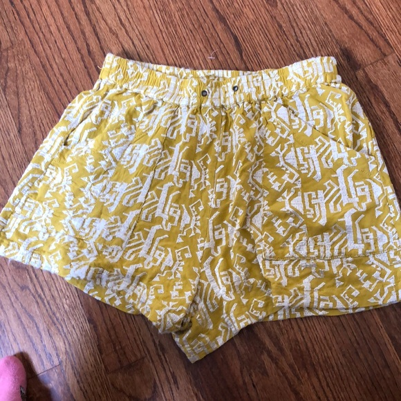 Anthropologie Pants - Anthropologie yellow shorts